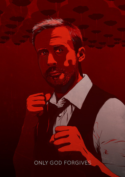 Only God Forgives alternative movie poster designed by Jeroen van de Ruit
