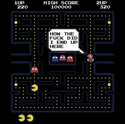 insanelygaming:  Mario in Pacman World Created by RetroGameAddict