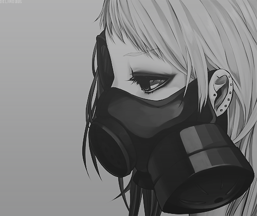 marieakm:  Gas Mask Girl