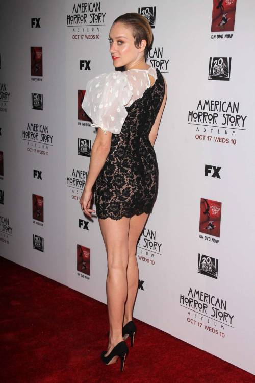 Chloe Sevigny in a lace mini dress, looking hot!