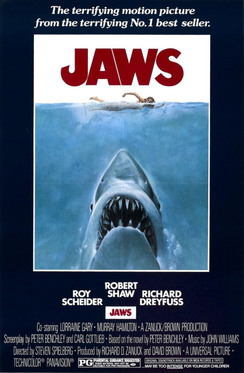 155. Jaws (1975) a film by Steven Spielberg Your husband's all right, Mrs. Brody. He's fishing. He's just caught a couple of stripers. We'll bring 'em in for dinner. We won't be long, we haven't seen anything yet. Over and out.