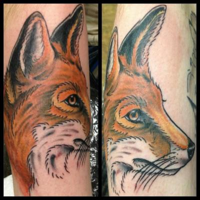 My Fox, done by Black Book Tättoowierungen in Krefeld, Germany