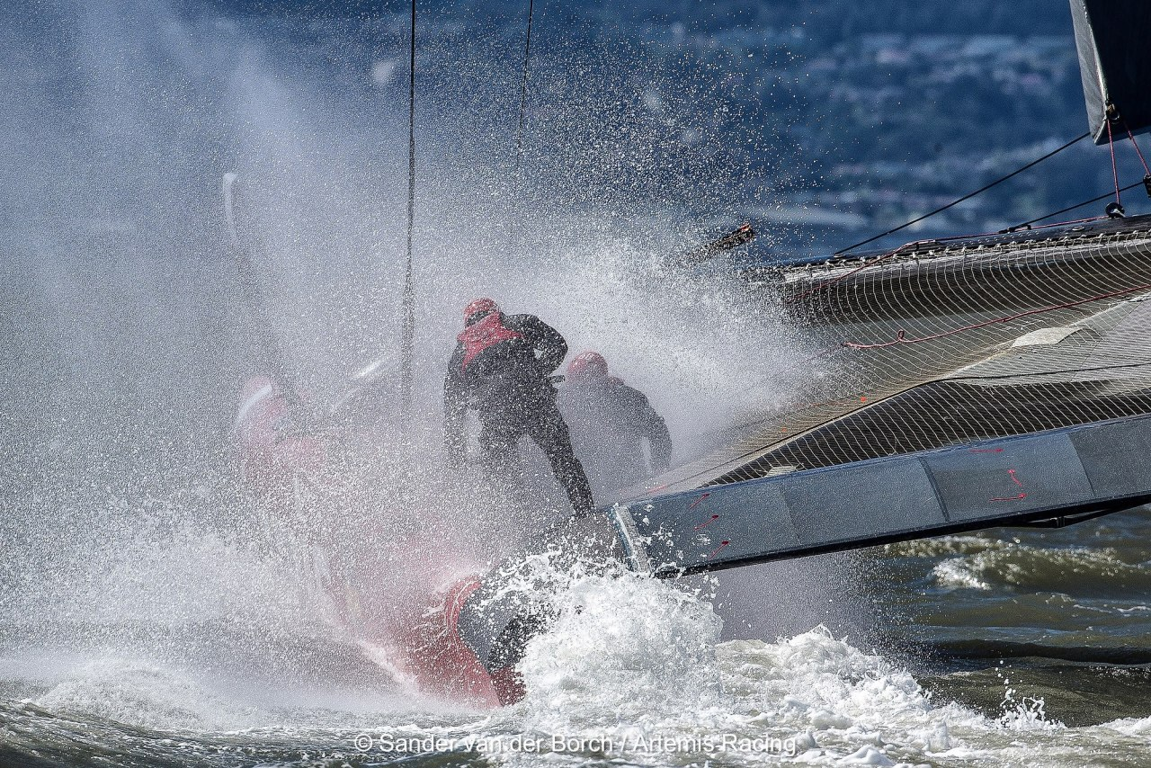 Artemis Racing training on their AC72 in San Francisco