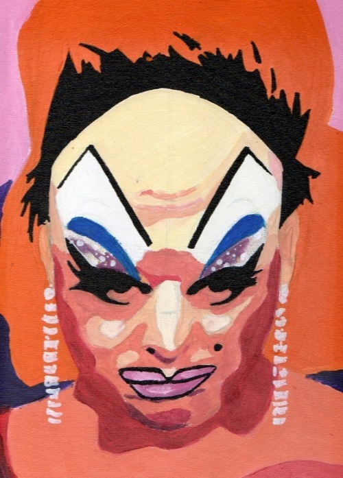 Divine (Pink Flamingos), acrylic on canvas 2012
