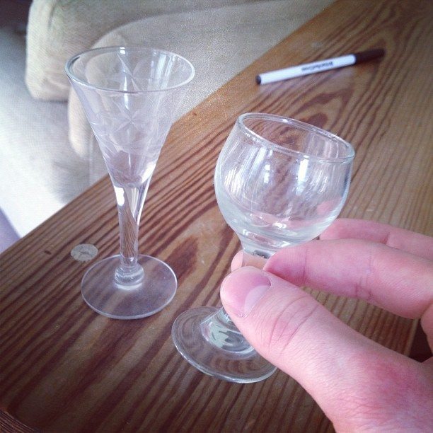 look at these dinky #glasses   #small #wineglass