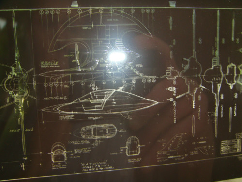 1989 Tim Burton Batwing Blueprint Schematic
