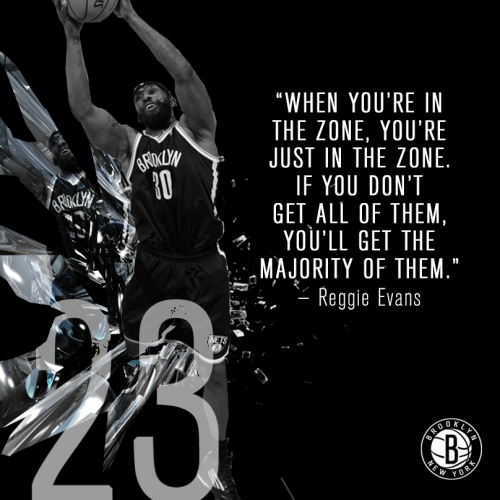 netsbasketball:  Reggie Evans was definitely in his zone last night, grabbing a career-high 23 rebounds in Philadelphia!