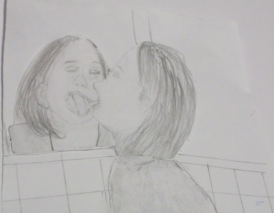 "drawing from ""Push it"" video. (Elizabeth Burda)"