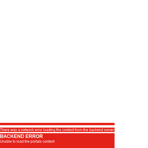backend error