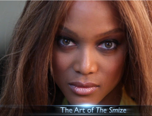 "usatodaycollege:  Tyra Banks and the art of the smize - how does she do it?   Is it just me, or are you also not getting the ""smile"" half of the smize here?"