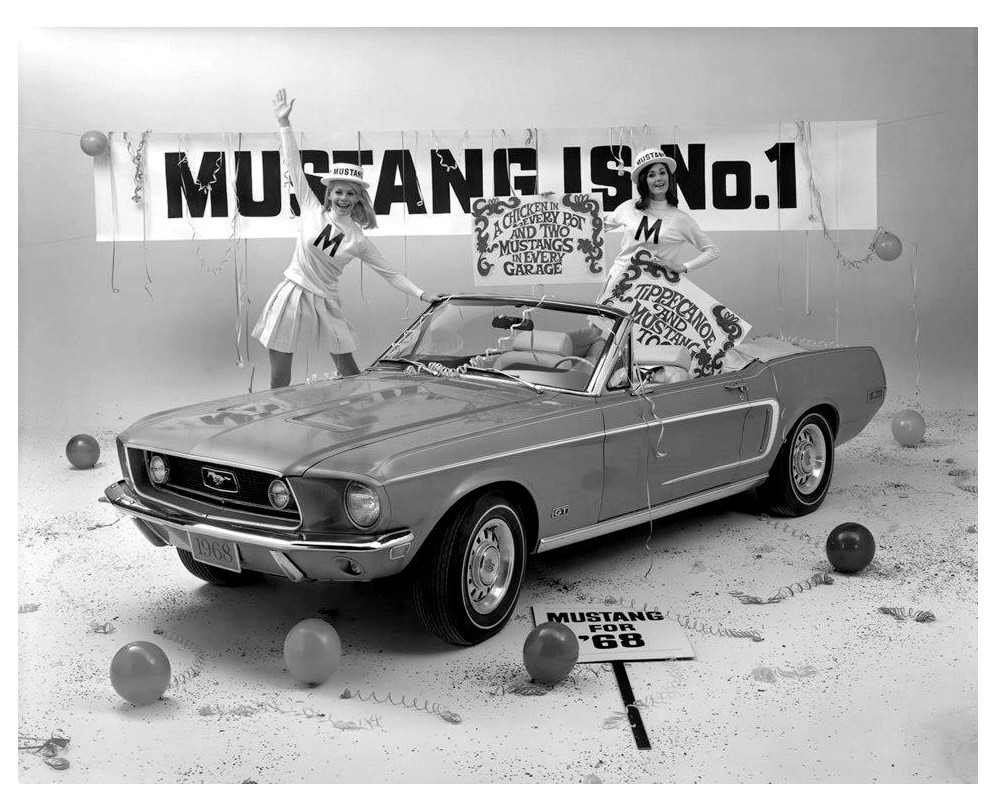 Tippecanoe and Mustang too… 1968 Ford press release photo
