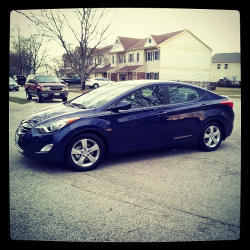 My new baby! #car #Hyundai #Elantra #sexy #hot #perfection
