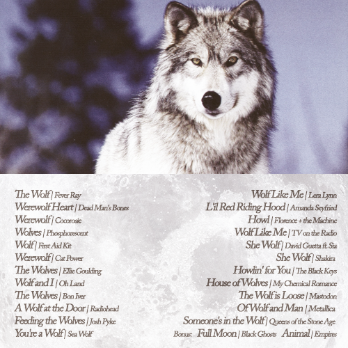felspar:  wedding-beaches:  Howl | A playlist for wolves and werewolves {lyrics} {download}  THIS IS A THING I NEEDED ON MY BLOG. Cas agrees.  Also tagging Akitla, as I believe this is relevant. ~  Thank you Felspar, this is 300% relevant to my interests! Time to hit up Grooveshark…