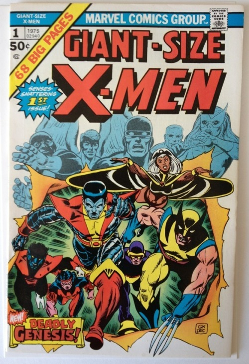 Giant Size x Men 1 1975 Marvel Comics 1st New x Men | eBay     Price:US $850.00   Y'know, I've got a birthday coming up in…mmmm…lemme check…yep, November.  Anyway. A fella can dream, can't he?