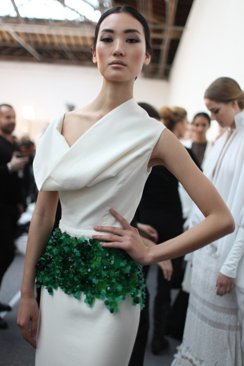 womensweardaily:   Backstage at Stéphane Rolland Spring Couture 2013 Photo by Kuba Dabrowski