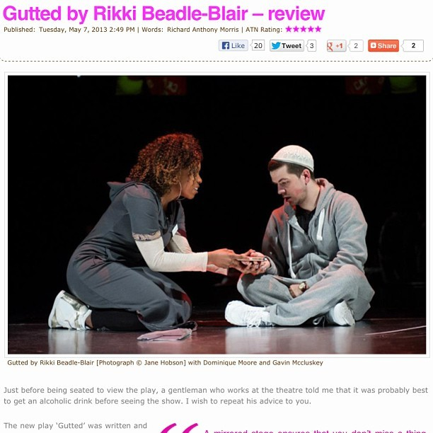 I write #theatre #reviews as well #whaaat