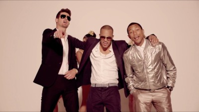 On the Reel: Shots from Robin Thicke's Blurred Lines Video featuring T.I. and Pharrell