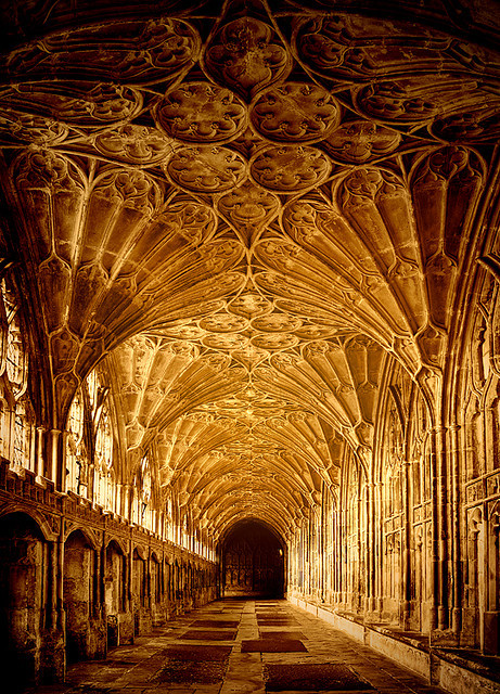 followthewestwind:  Gloucester Cathedral - cloisters by CowGummy on Flickr.