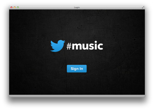 "futurejournalismproject:  Twitter #music Twitter appears set to launch a music service although what it is is still under wraps. Yes, you can go to music.twitter.com (pictured above) but when you get there and try to sign in, nothing happens. Via the BBC:  Reports suggest the new service will offer personalised recommendations on music through its own dedicated app. US celebrity host Ryan Seacrest confirmed the existence of Twitter's new app on Thursday via a tweet: ""playing with @twitter's new music app (yes it's real!)… there's a serious dance party happening at idol right now""  AllThingsD reports that the service will launch this weekend to coincide with the Coachella music festival."