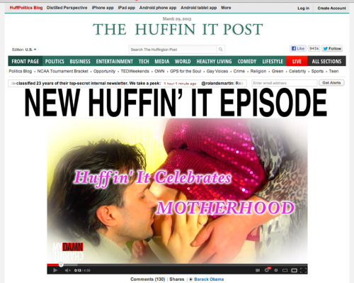 Have you guys seen the new website The Huffin' It Post?