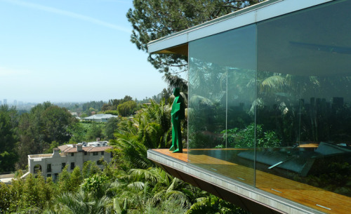 'Architectones' by Xavier Veilhan at Sheats-Goldstein House, LA