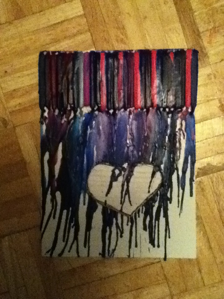 My first crayon art