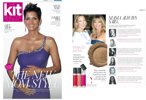 Makeup expert Carmindy is featured in the Mother's Day edition of The Kit magazine.
