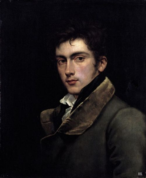 hadrian6:  Carl Joseph Begas. German. 1794-1845. self portrait. oil on canvas. http://hadrian6.tumblr.com