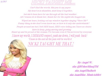 Made this for Nicki <3 Yes I Wrote the Poem :)