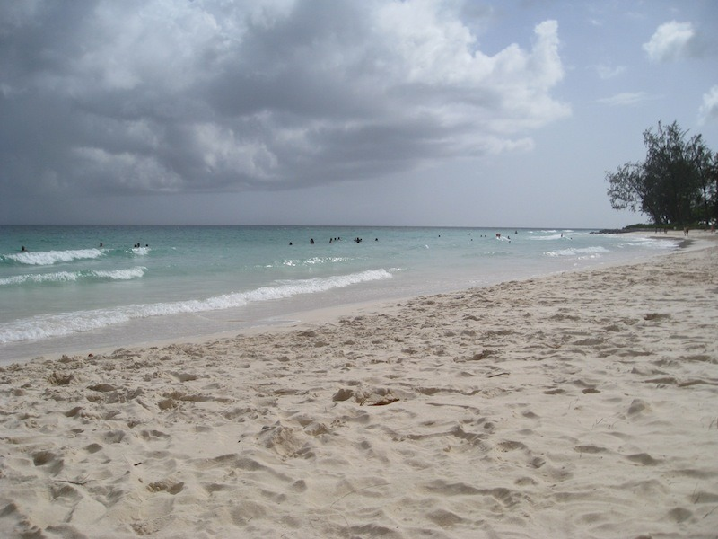 The beach in Christ Church, Barbados.