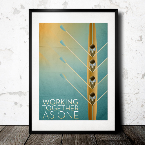 betype:  Working Together As One: Rowing Poster. Designed by: Kyle Bennett http://www.behance.net/kylebennettdesign  Get inspired on Betype.co