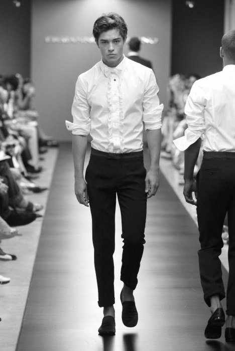 francisco lachowski semi-formal tuxedo shirt