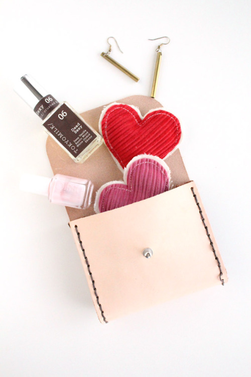 DIY leather pouch via Poppytalk