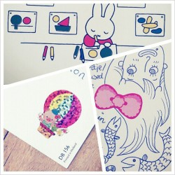 @tsvetks sneak peek #postcards #postcrossing #postcard #stickers #miffy #doodles #doodle #illustration #swap