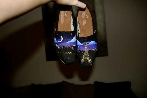 Paris-themed TOMS chloeshoedesigns@gmail.com