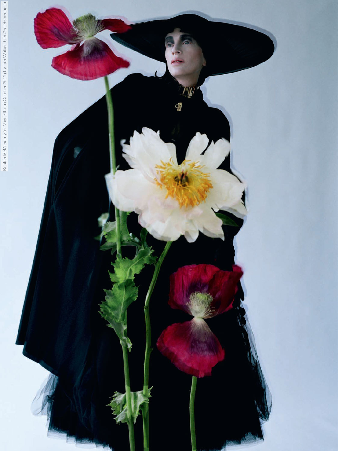 "Kristen McMenamy by Tim Walker in ""Black and Roses"""