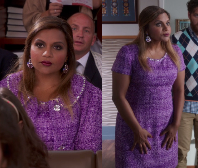 Where were Softnet's earrings from on season 5 episode 9, Bat mitzvah? She wore them at the mitzvah. Sadly I haven't found Softnet's purple earrings yet but her matching purple tweed and crystal embellished dress and coat are custom made Salvador Perez...