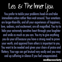 zodiacsociety:  Leo and the inner you.  might as well get a leo tattoo.