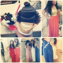 Prom dresses and icecream #lifesgood @cindy_lii @haaawendy