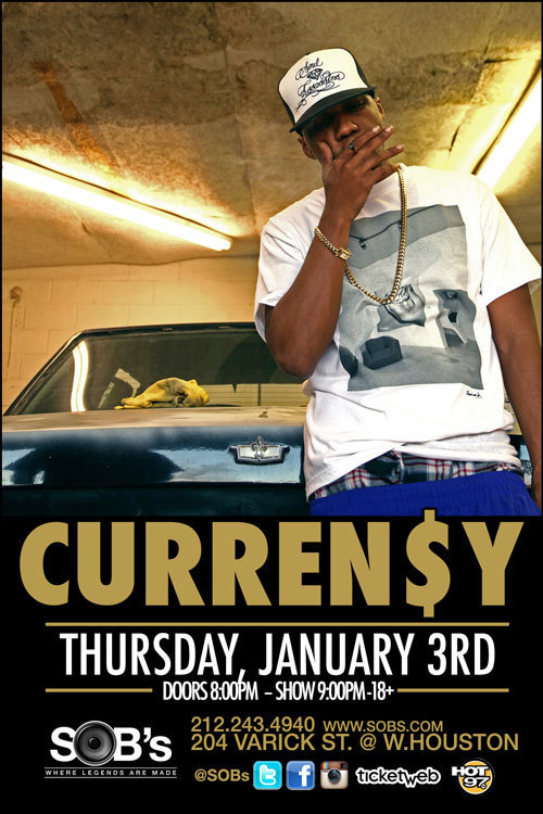 You too can start off the new year with Curren$y and The Jets. Click here how to find out!