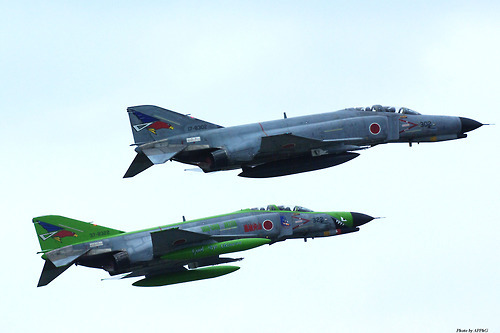 Final JSDAF photo for today…a pair of McDonnell Douglas F-4EJ Phantom II fighters in Japanese Self Defense Air Force service