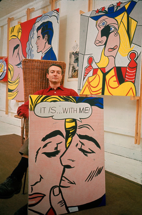 stellth:  Roy Lichtenstein, 1963 life:  Today we present 40 portraits that help us see the human beings behind some of the 20th century's most vital works of art. Pictured: Roy Lichtenstein, 1963 (John Loengard—Time & Life Pictures/Getty Images)