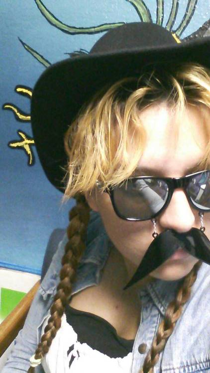 Conco de mayo!!!  finally an excuse to wear my moustache glasses! perfect :) Except for today is freezing and i might catch frost bite.  I need an insulated full body suit….  Or maybe an astronaut suit…