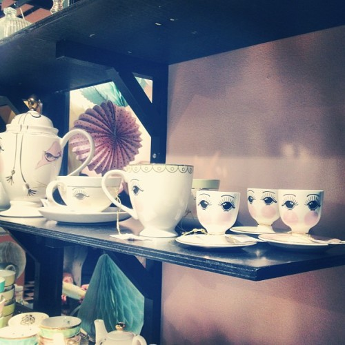Omg!! How cute are those eggcups?!? #WANT #missetoile #pulse2013 #tableware #interiordesign #randomtypography  (at Earls Court Exhibition Centre)