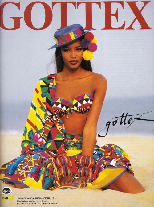 Gottex 1992Model : Naomi Campbell