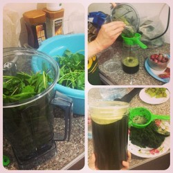 The steps to making your own chlorophyll juice.  1. Take any leafy greens (the more variety the better) and blend with as much water as you want. Do not blend on high or else it'll warm up.  2. Then take a caulander/sifter thingy and pour all the blended contents into a mason jar. Use a spoon to flatten all the leaves in the sifter to get all the juice out. 3. If you have a rash, cut, bruise, or a swollen area on your skin, you can use the blended leaves and put them on the area and wrap it up with gauze.  There ya go! Easy steps to makin chlorophyll loaded with vitamins and minerals. It had an almost identical molecular structure as hemoglobin so it is so goood to boost up energy levels and detoxify the body. Plus it keeps you cool in the summer! Add honey and ice if needed :)