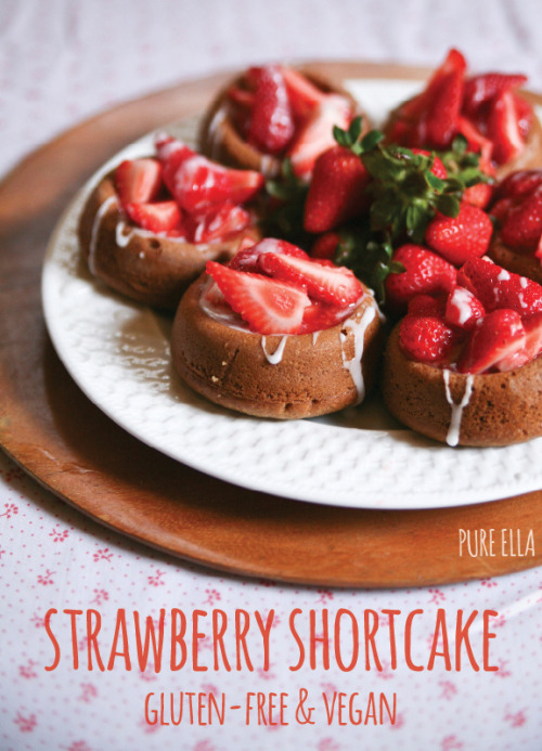veganfoody:  Strawberry Shortcakes (GF)© Pure Ella