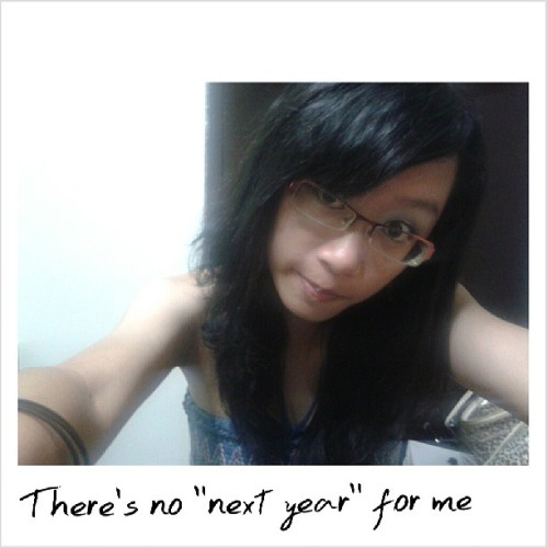"There's no such thing as a ""next year"" for me. #2010 #ThrowBack"