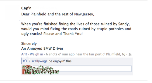 Ohhhh, you drive a BMW! OK, sure, we'll fix those potholes then.