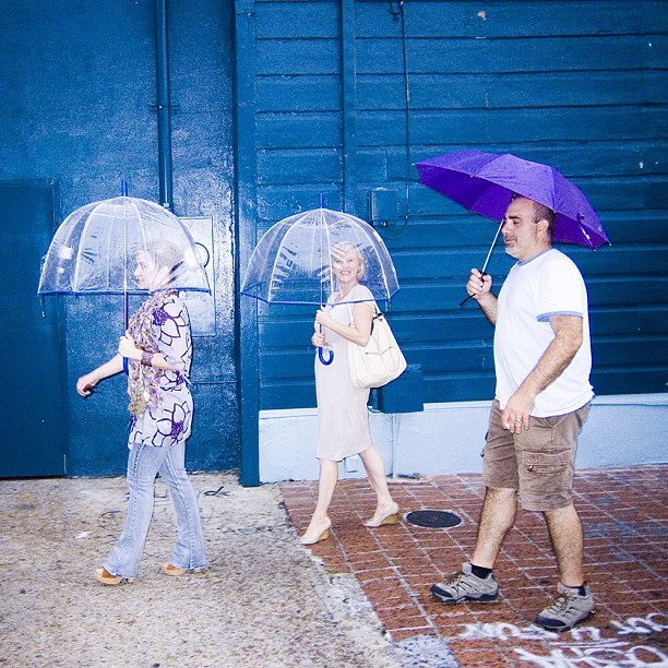 Tourists in the rain, New Orleans.